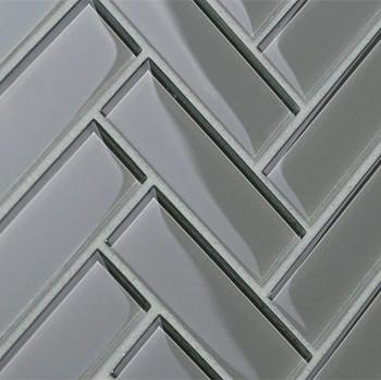 Polished Herringbone Glass Mosaic And Subway Backsplash Tile Kitchen - Buy  Glass Subway Tile,Backsplash Tile,Tile Kitchen Product on Alibaba.com