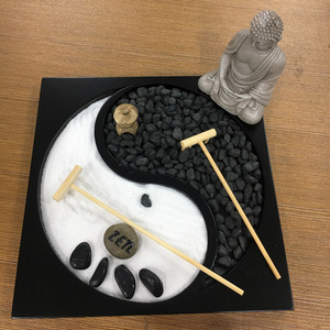 Mini small size tabletop decoration zen garden statues for sale