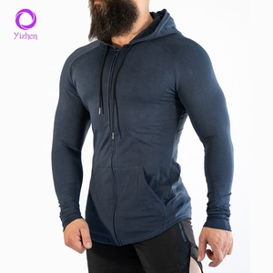 quick dry sports fitness gym hoodie sweatshirt men fitted plain sweat suits hoodies