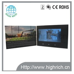 Competitive price 4.3 inch tft lcd electronics video booklet light sensor card mailer with box