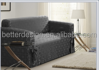 Ready Made In Stock100 Polyester Simple Sofa Cover Design Fabric L Shape With