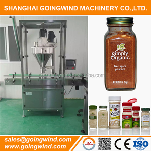 Automatic spice jars packaging machines auto spice powder plastic bottle filling machine cheap price for sale