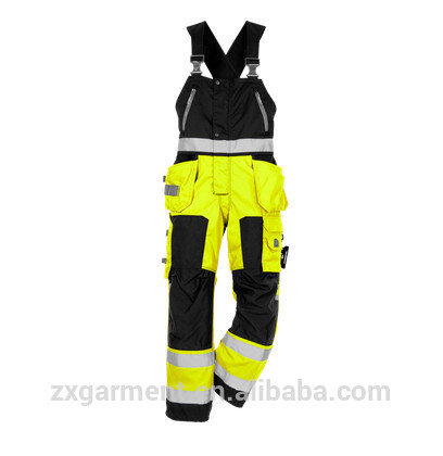 OEM ,MANUFACTURER CHINA MENS HEAVY-DUTY CARGO PANTS <strong>ORANGE</strong> PAINTER'S BIB PANTS