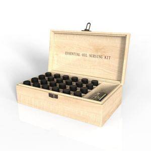 Essential Oil Wooden Storage Box 24 Compartment To Store And Protect Your Essential Oils Set