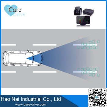 Anti-collision system distance sensor alarm for trucks