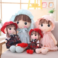 Lovely stuffed rag doll plush baby cute doll best toy gifts for baby wholesale 16inch