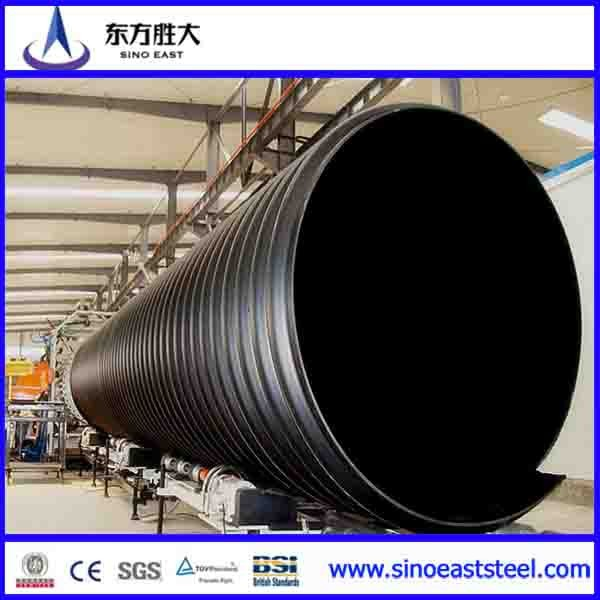 Hdpe Large Diameter Steel Double Wall Corrugated Drainage Pipe ...