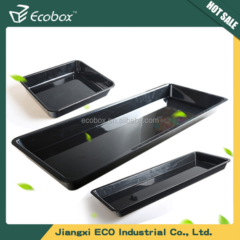 high quality 100% melamine abs teabag tray plastic food serving tray