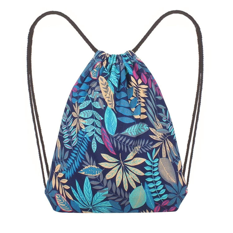 Women Canvas Backpack,Clearance! AgrinTol Fashion Printing High Capacity Bucket Bag Backpack Shoulder Bag