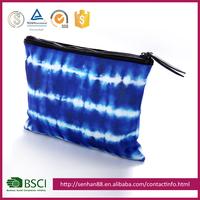 wholesale clear plastic plain 3d Print bulk cheap plain cotton makeup Cosmetics bags cases ladies with zippers