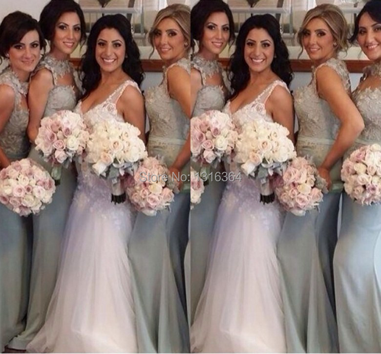 Bridal Party Dresses Silver