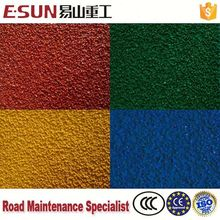 asphalt concrete pavement colored stone granules