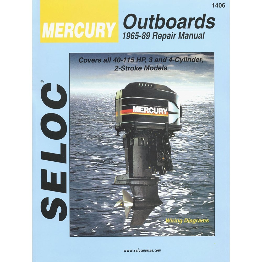 Get Quotations · Seloc Service Manual - Mercury Outboards - 3-4Cyl - 1965-89