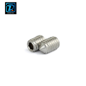 DIN 914 All Threaded Hexagon Socket Set Screw With Cone Point