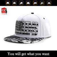 China Cap Manufacturer Wholesale Custom 3D Embroidery Flat Visor 5 Panel Snapback Cap and Hat