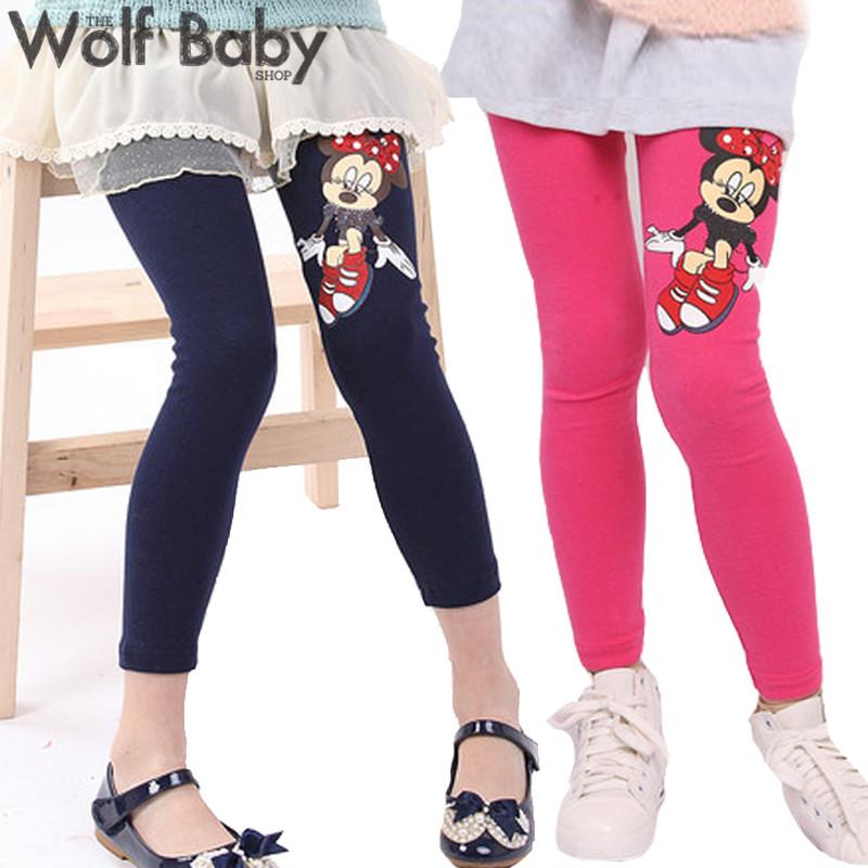Retail 3 10years 6 color footless girls cartoon pattern leggings kid pants clothing kids children s