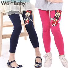 Retail 2-7years 6 color footless girls cartoon pattern leggings kid pants clothing kids children's dress fashion clothes