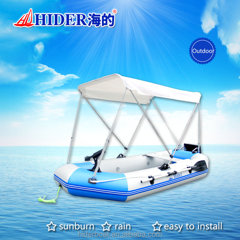 HIDER new stainless steel bar and PVC bimini top for inflatable boat canopy,awning
