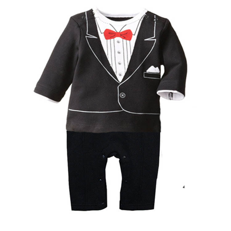 ZG-592 2016 new newborn baby rompers clothing baby boys clothes tie gentleman bow leisure toddler one-pieces jumpsuit