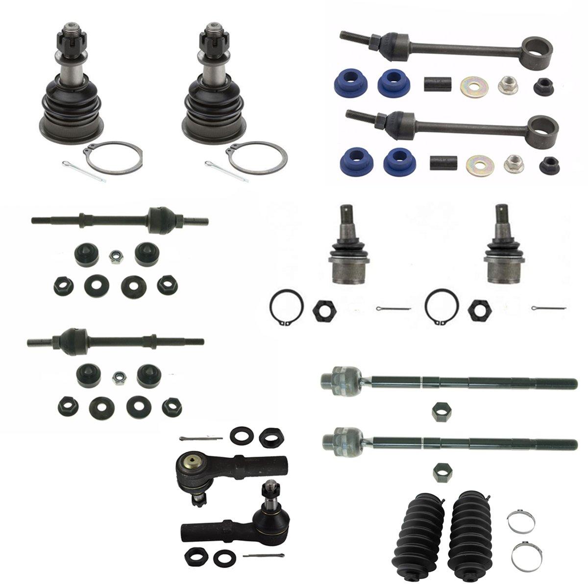 Tie Rod End Kit Inner Outer LH RH w// Steering Rack Boot for 02-05 Dodge Ram 1500