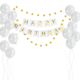 Happy birthday party supplies happy birthday banners and star garland and balloons kit for birthday decoration