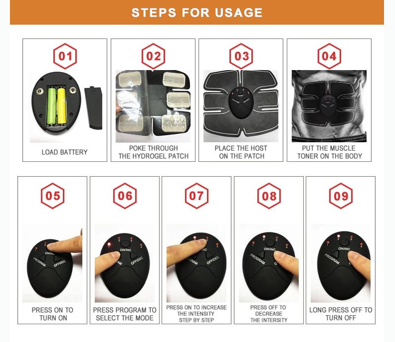 Health Care Electric Slimming Body Abdominal Muscle Training Stimulator Massage Machine