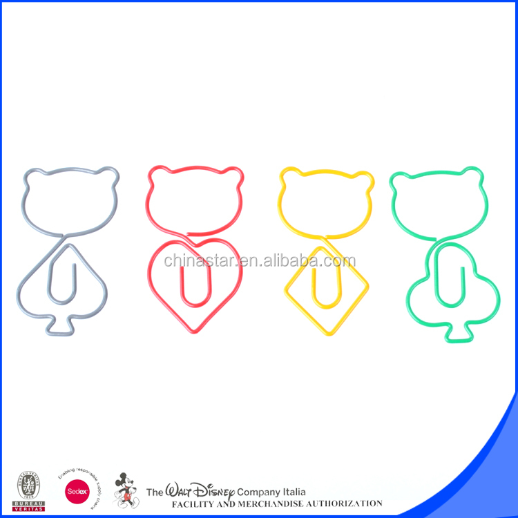 Very cute cartoon shape paper clip stationery gift wholesale
