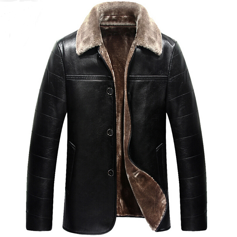 Men Leather Jacket Suitable For Russian Minus 2015 Winter ...
