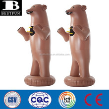 durable plastic foldable inflatable 3D bear target shoot portable 3d archery air target PVC bear target