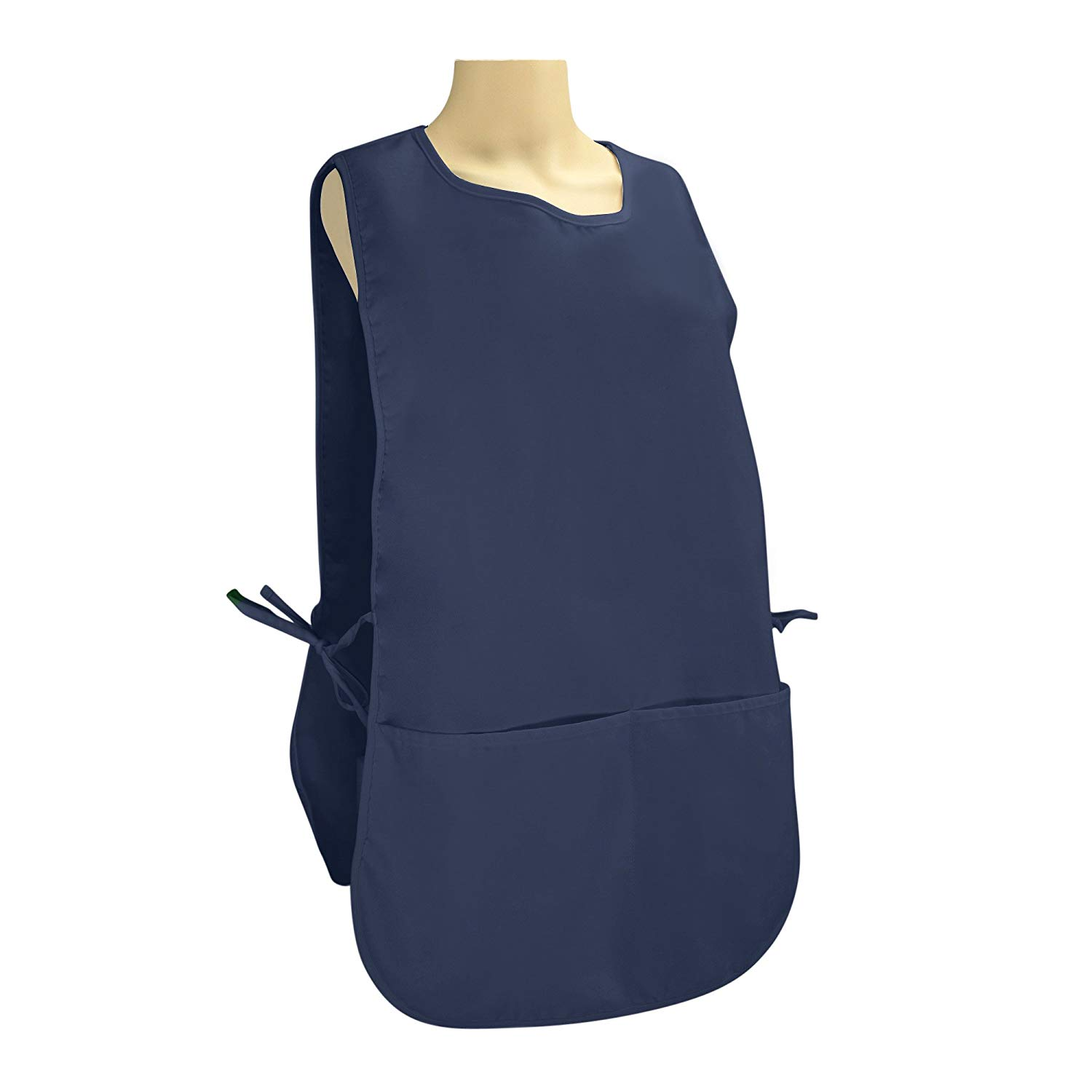 "DALIX Cobbler Apron 2 Pockets Smock Chef 28.5"" x 18.5"" Poly Cotton Navy Blue"