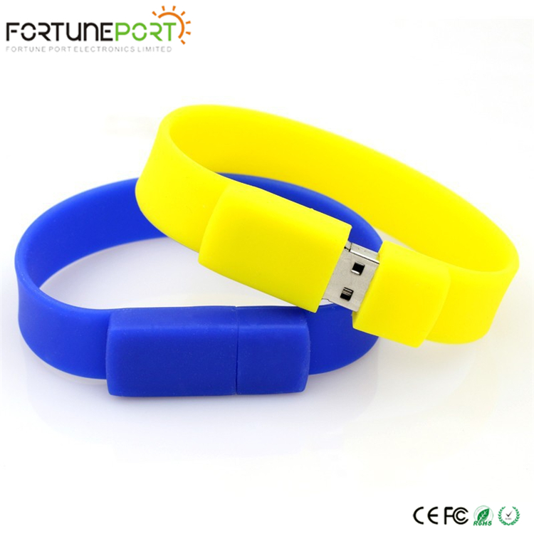 New Fashion Excellent Quality Wristband USB Pen Drive, Colorful Bracelet USB Memory Stick
