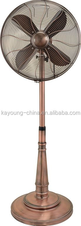 16 inch classical elegant oscillation 100% copper motor metal industrial stand fan supplier