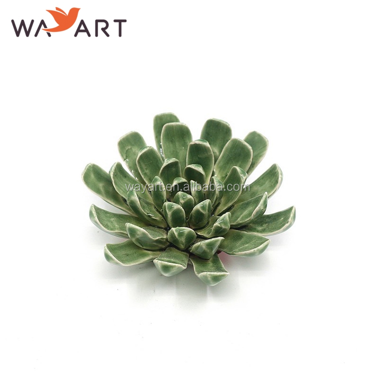 Atacado Handmade Green Ceramic Lotus Flower