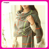 top quality big checked knit cashmere scarf pattern