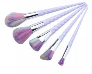 DHL Free shipping wholesale Foundation makeup brush Powder Blush 5pcs Unicorn MakeUp Brush Set