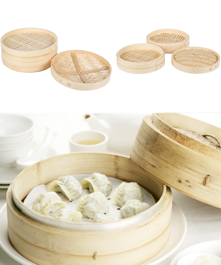 Domestic&Restaurant&Industrial CookWare Bamboo Food Steamer Rice Noodles Roll Steamer
