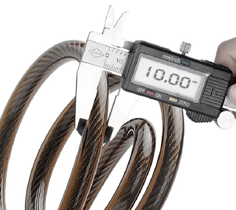 Mais recente hardware keyless inteligente cabo cadeados alarme impermeável ao ar livre mobília do pátio balanço portão bicicleta fechaduras à prova de assaltante