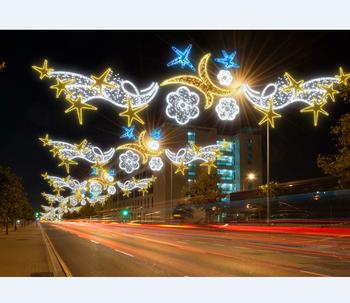 Commercial Outdoor Christmas Decorations.Custom Commercial Outdoor Led Christmas Decorations Motifs Cross Street Light Buy Street Led Light Motif Christmas Street Pole Light Motif Outdoor