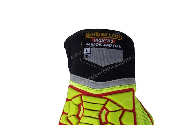 Seibertron High visibility HRIG Rigger Gloves Impact Protection Oil and Gas Rubber Safety Gloves,Industrial Rigging Safety Glove