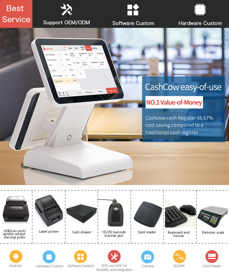 Reliable and Good wireless restaurant ordering system with barcode scanner