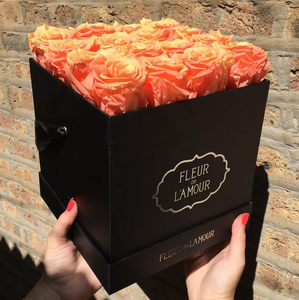 2019 Fresh flower hat box/black square box packaging