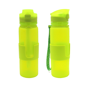Bpa Free Camouflage 500ml Rollable Adults Gourd Shaped Stainless Collapsible Personalized Empty Water Bottle Shaker