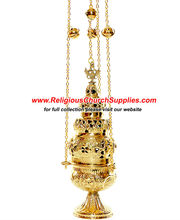 Brass Censer with 4 Chains and 12 Bells