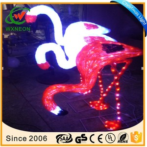 led motif light 3d motif light outdoor christmas light animals flamingo