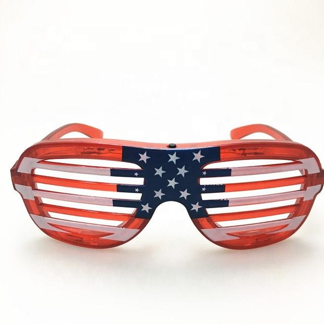 f732a2170 Atacado fontes do partido neon fantasia festival 4th Of July brilho led  óculos de sol olho