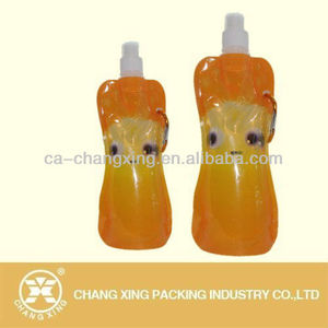 water sachet bags with spout and cap