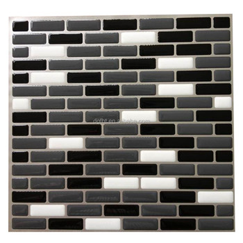 Luxury Black Tiles Kitchen Wall And White Checkered For