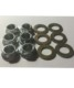 6 sets Washer and nut for Magnesium Wheel in Racing