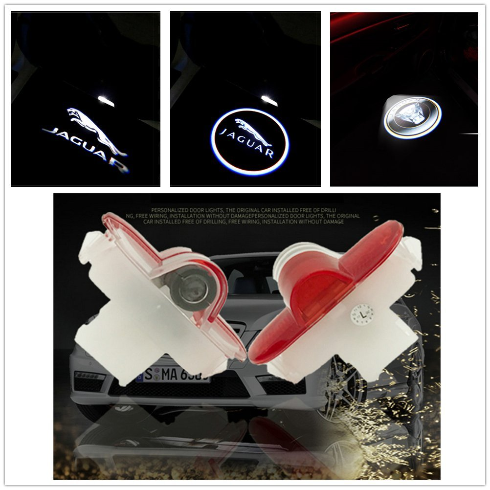 Deleika Pack Of 2pcs Car Door Led Step Ghost Shadow Projector Courtesy Welcome Light For Jaguar