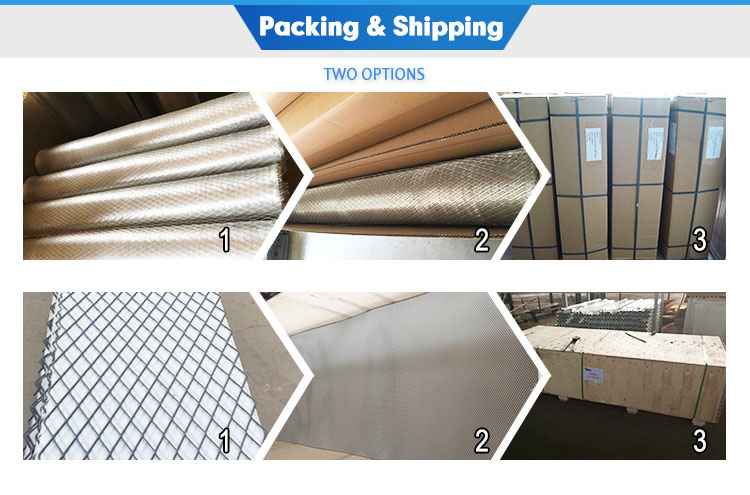 Good Price 2mm-50mm Short way of mesh aluminum expanded metal mesh decorative perforated aluminum sheet
